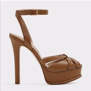NEW Aldo tan platform sandal sz 10 Final Price